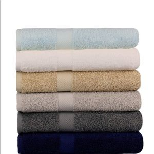Bath Towels -Extra-Absorbent 100% Cotton 6Pack